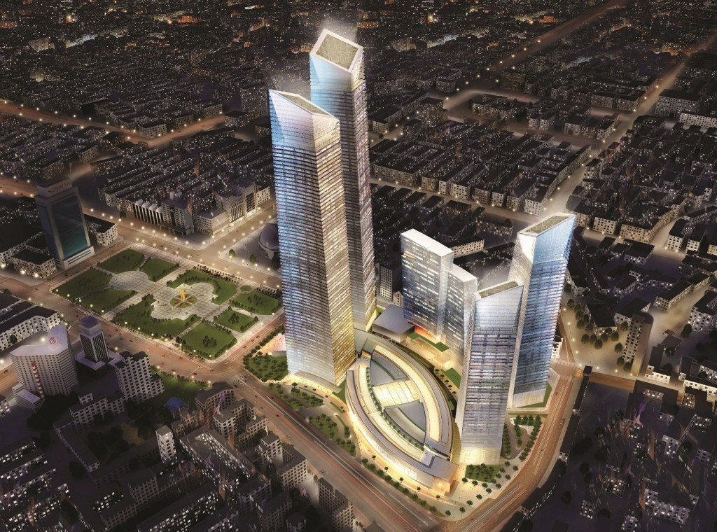 Forum 66 Tower 2 in Shenyang, China — 1,150 feet. Image © z0rg/SkyscraperCity