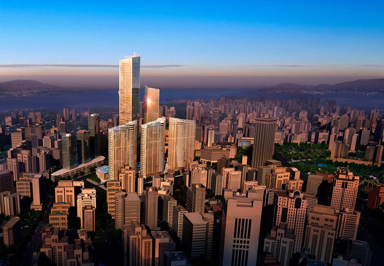 Torre Eton Place Dalian 1 en Dalian, China — 383m. Imagen © NBBJ