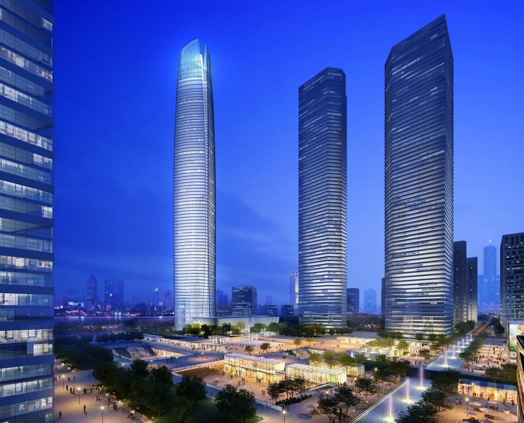 © ECADI. ImageWuhan Center in Wuhan, China — 1,437 feet