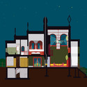 Night section, A House for Essex.  Artist: FAT Architecture and Grayson Perry. Image Courtesy of FAT Architecture