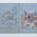 Design for an artists house and studio,Tite Street, Chelsea, 1878  Artist:  Edward William Godwin. Image Courtesy of Victoria and Albert Museum, London