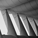Roof detail above the public plaza. Image © Jeffrey van der Wees