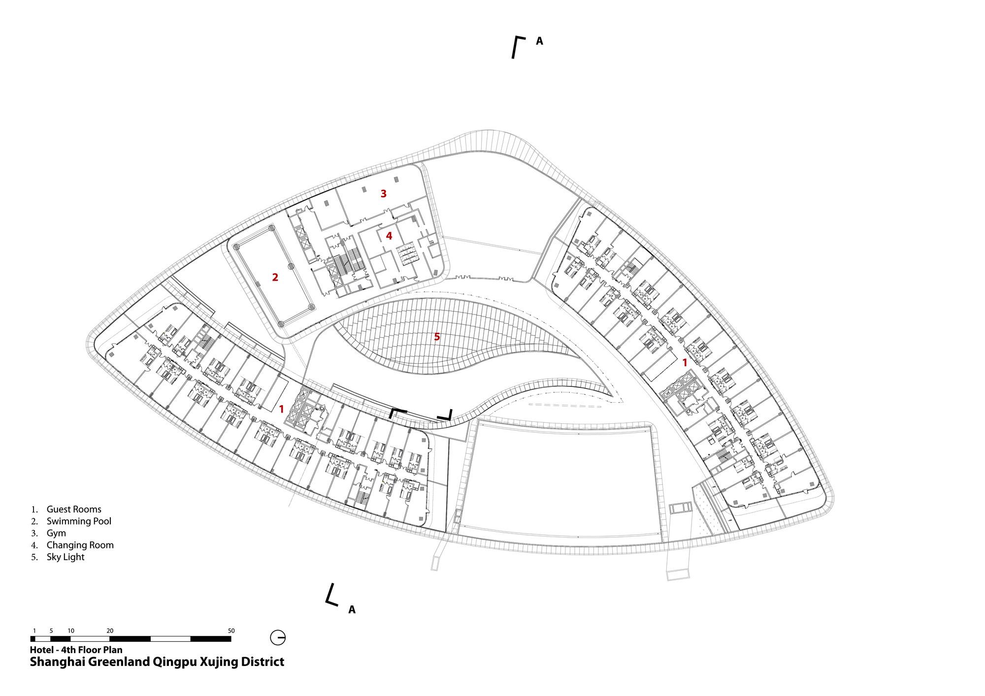 Commercial Bank Floor Plan Gallery Of Aedas Leaf Shaped Sales Gallery Nears