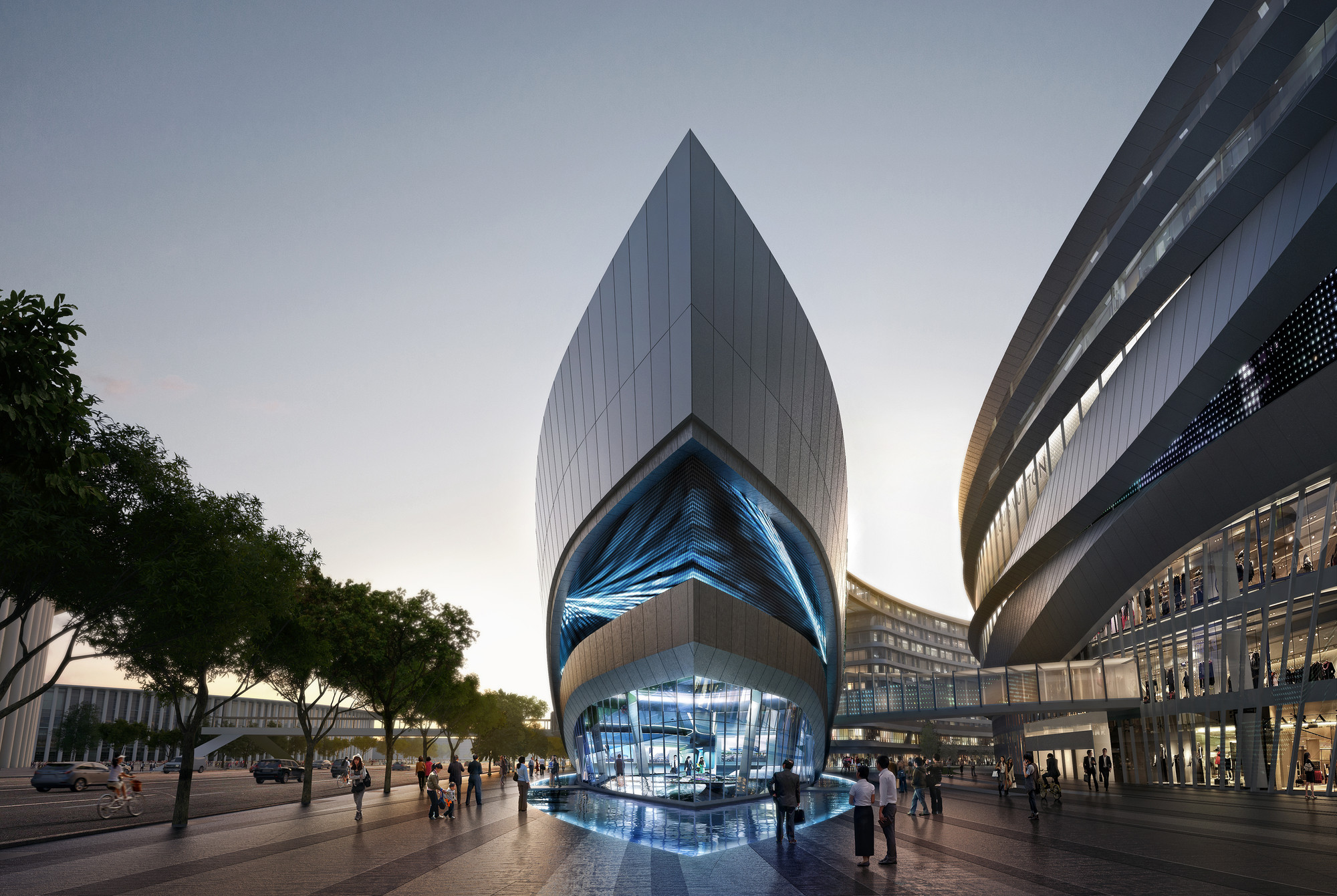 Aedas' Leaf-Shaped Sales Gallery Nears Completion in Shanghai, Sales Gallery. Image Courtesy of Aedas