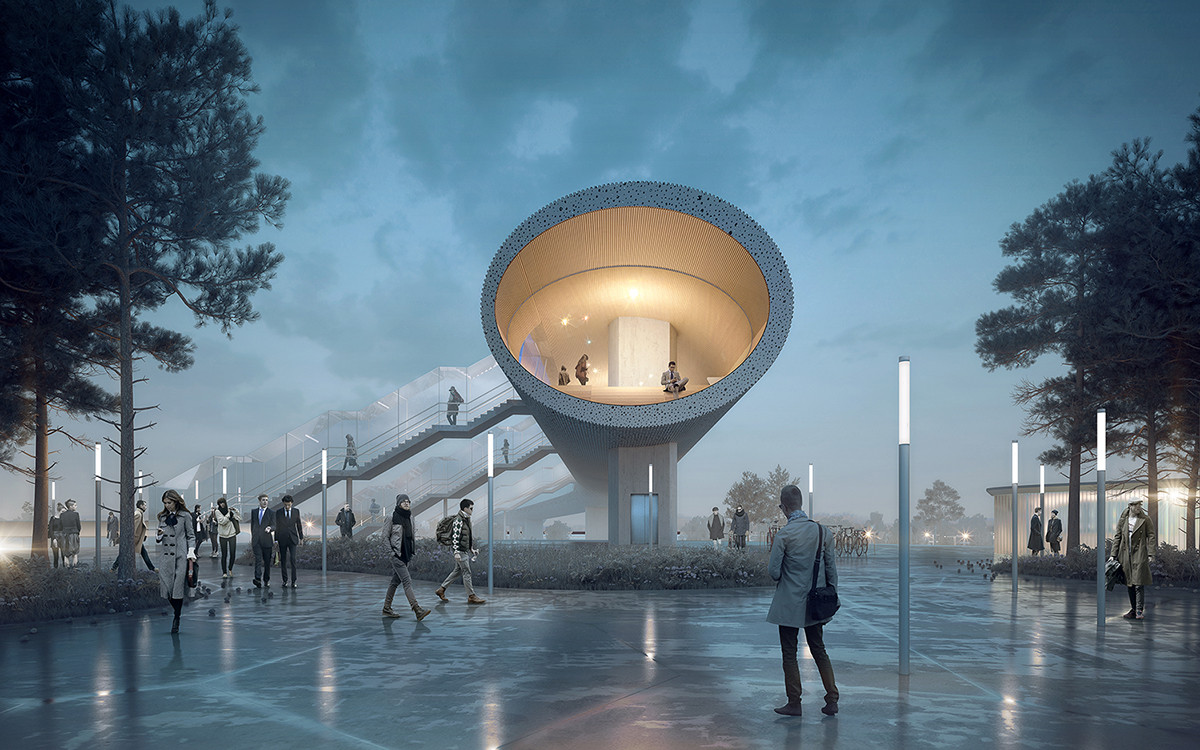 COBE and DISSING+WEITLING Win Competition to Design 225-Meter Pedestrian Bridge for Køge, © COBE, DISSING+WEITLING and COWI