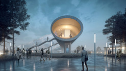 COBE and DISSING+WEITLING Win Competition to Design 225-Meter Pedestrian Bridge for Køge