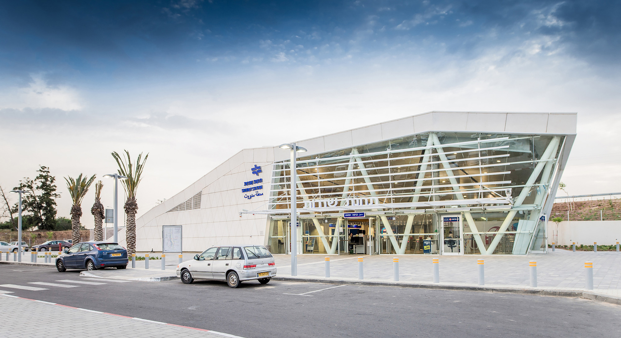Gallery of sderot train station ami shinar amir mann for V shaped architecture