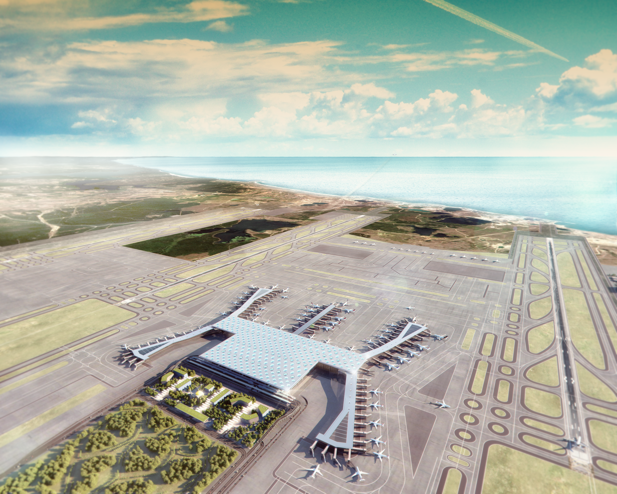 Grimshaw Releases New Images of World's Largest Airport Terminal in Istanbul, Courtesy of Grimshaw
