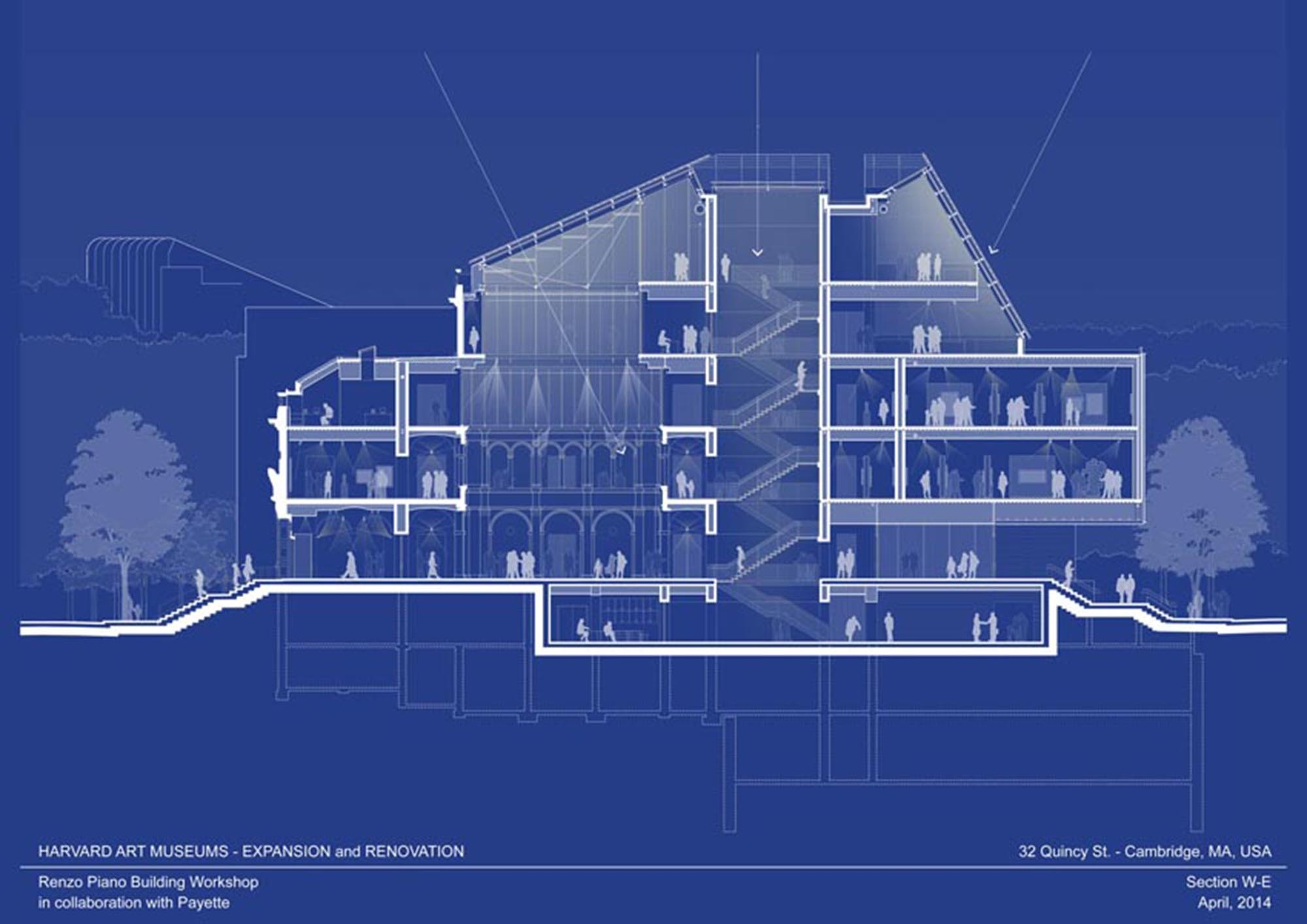 Harvard art museums renovation and expansion renzo piano for Renovation drawings