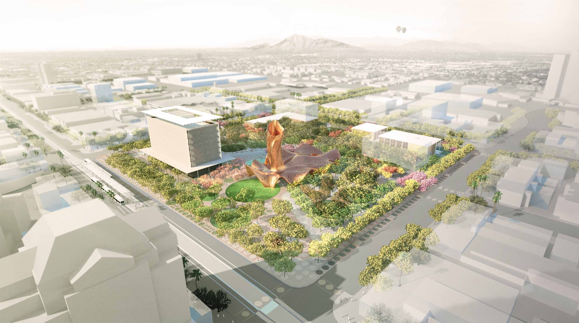 Weddle Gilmore, West 8 and Colwell Shelor Selected to Redesign Arizona's Mesa City Center, Context. Image © Colwell Shelor, West 8 and Weddle Gilmore