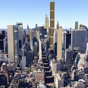 View over Upper East Side. Background shows supertall towers. Image Courtesy of CityRealty