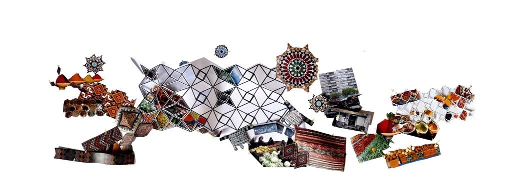 Collage conceptual. Image Cortesia de Miralles Tagliabue EMBT