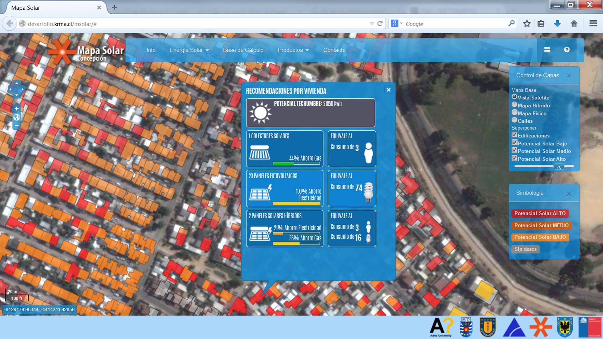 Lanzamiento del mapa solar de Concepción / Chile, © CONFIN AKA-ERNC-007