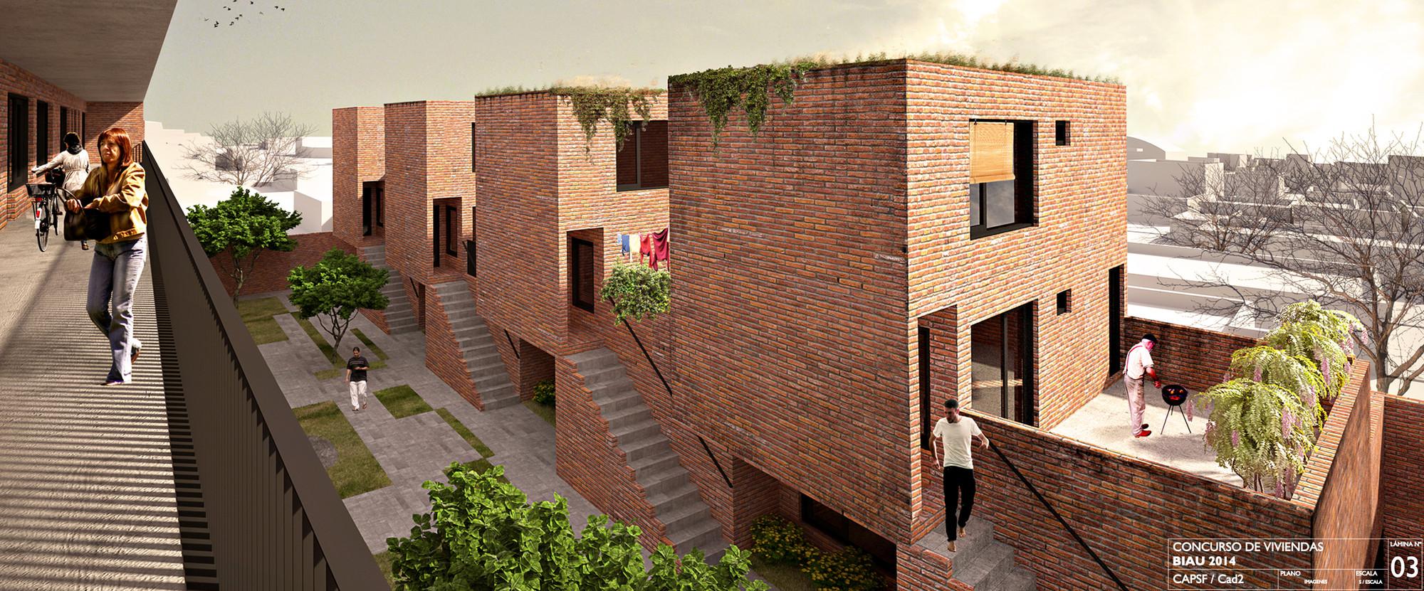 Segundo lugar en concurso iberoamericano de vivienda for Plataforma arquitectura