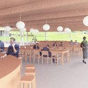 Interior view of the dining room. Image Courtesy of Grace Farms and SANAA