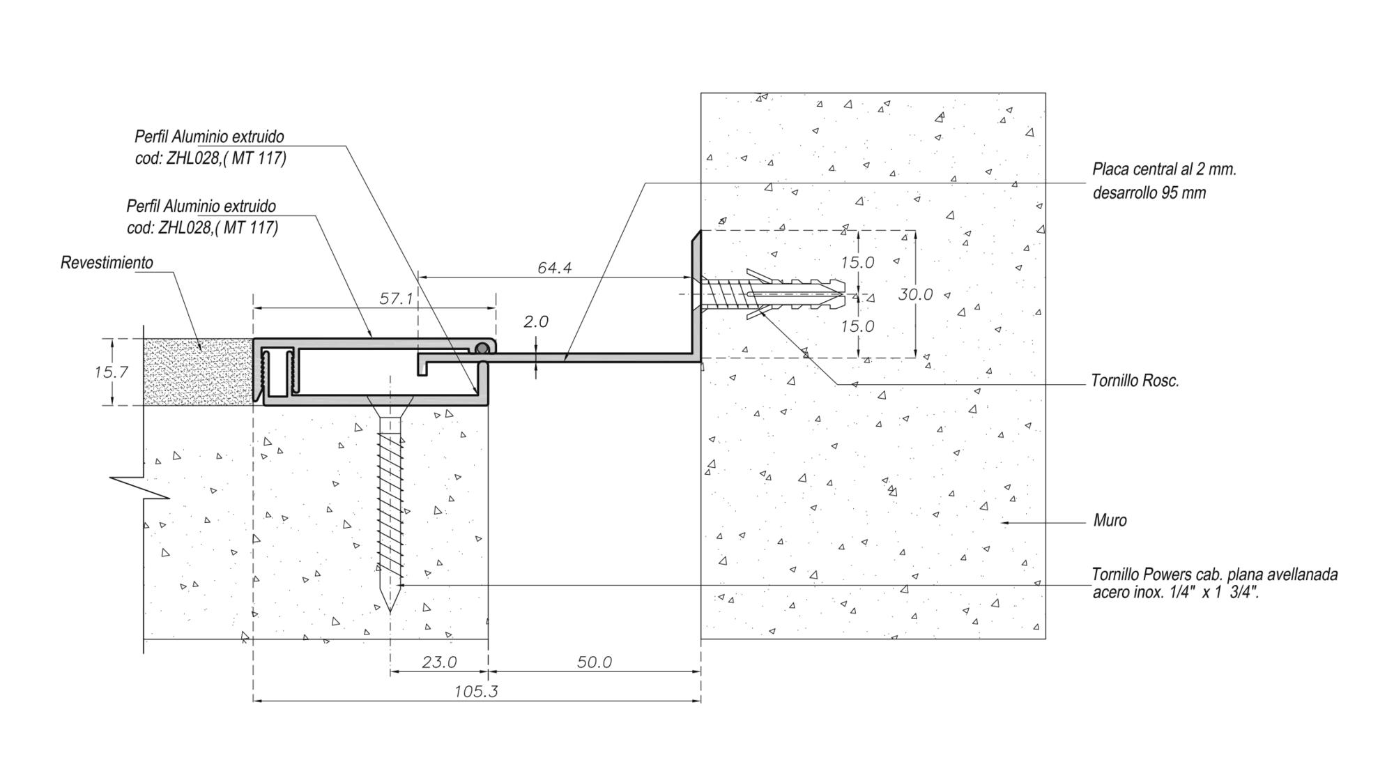 Cubrejunta Muro Aluminio Esquina (CMAL) / Sysprotec