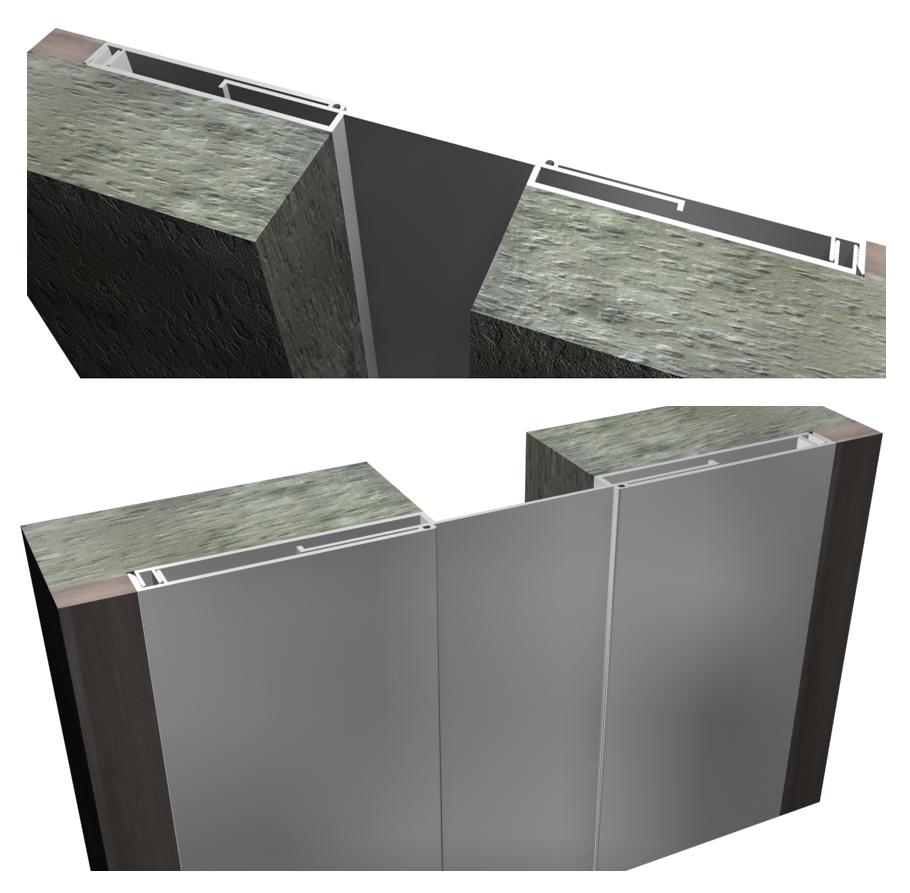 Cubrejunta Muro Aluminio (CMAL) / Sysprotec