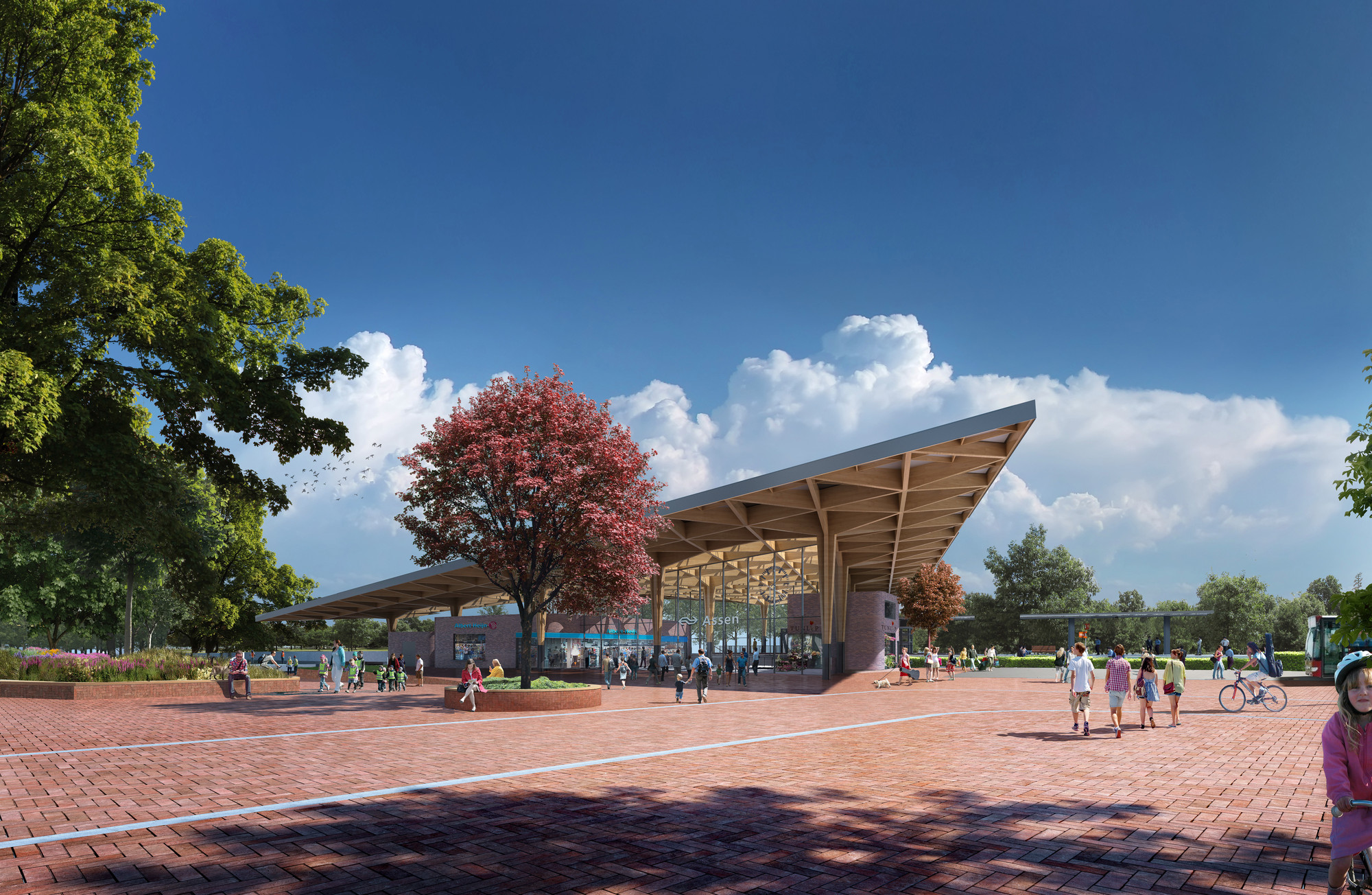 Powerhouse Company and De Zwarte Hond Selected to Redesign Assen Station, Entrance . Image © Powerhouse Company and De Zwarte Hond