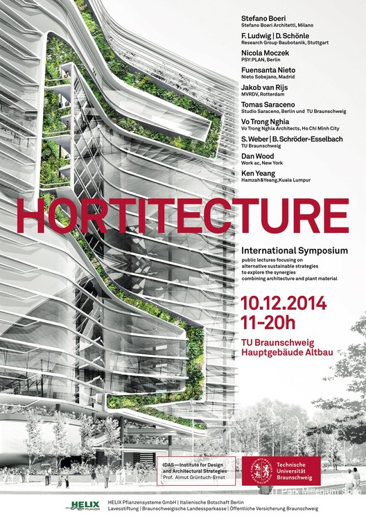 Braunschweig Hortitecture Symposium to Explore Synergies of Architecture and Plant Material, © T. R. Hamzah & Yeang Sdn. Bhd. (2014)