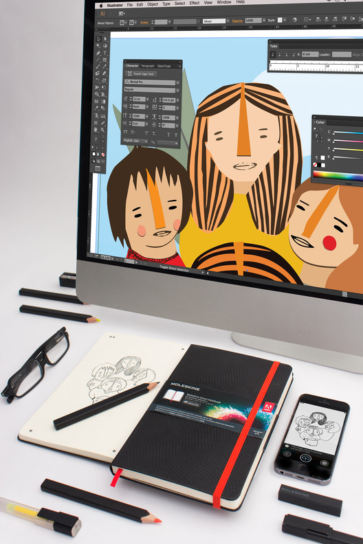 Moleskine And Adobe Creative Cloud Join Forces To Smooth Workflows, Courtesy of Moleskine / Adobe