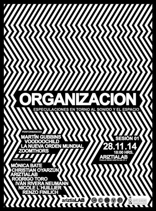 Organización: especulaciones en torno al sonido y el espacio / Santiago