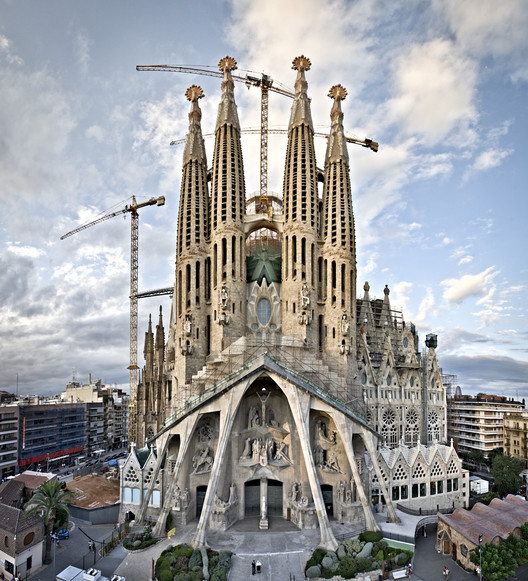 The Passion Facade of la Sagrada Familia. Image © © Expiatory Temple of the Sagrada Família