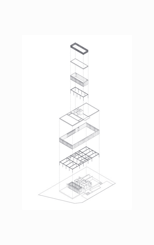 Axonométrica. Image Cortesia de Agencia de Arquitectura