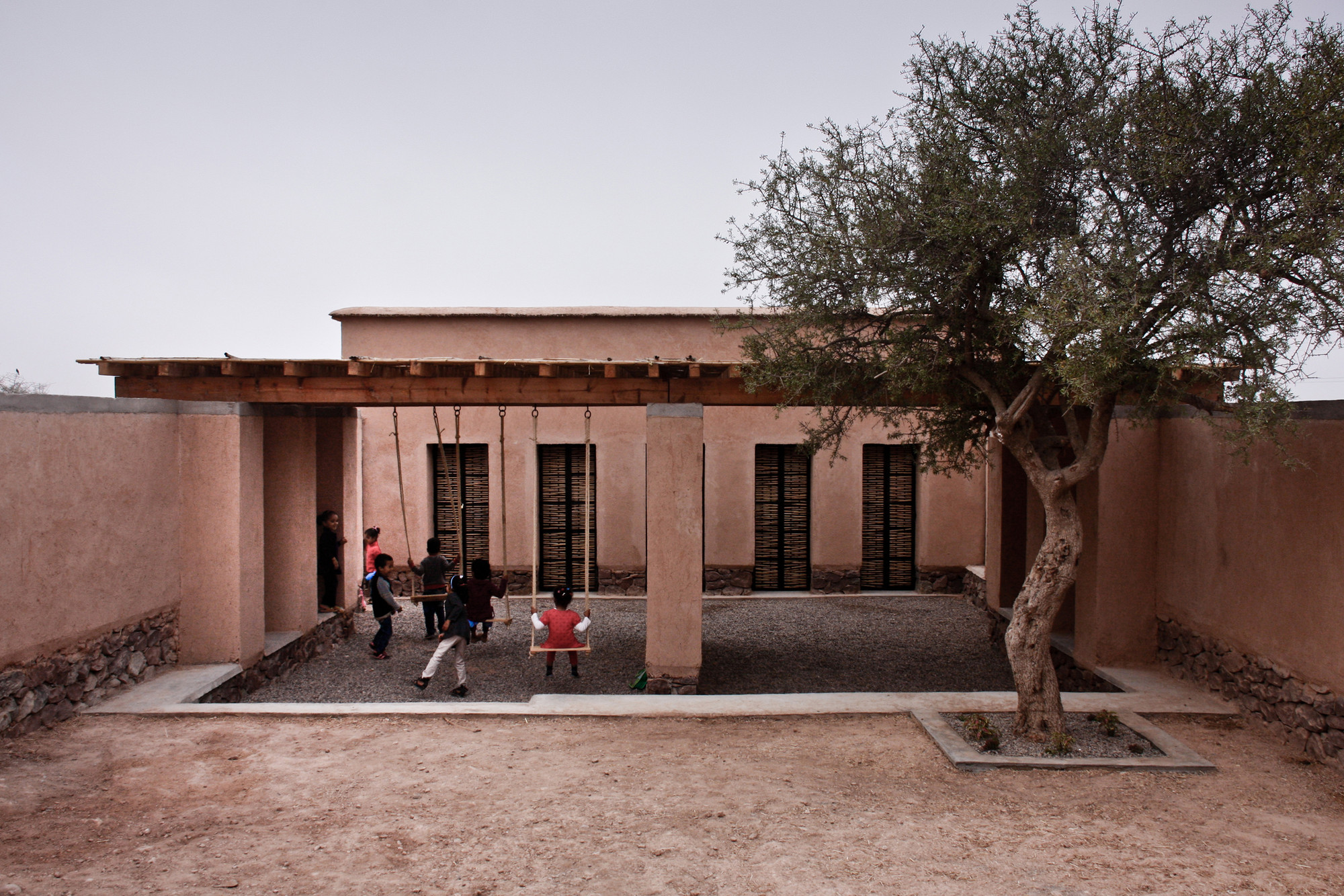 Preschool of Aknaibich / BC architects  + MAMOTH, © Frank Stabel