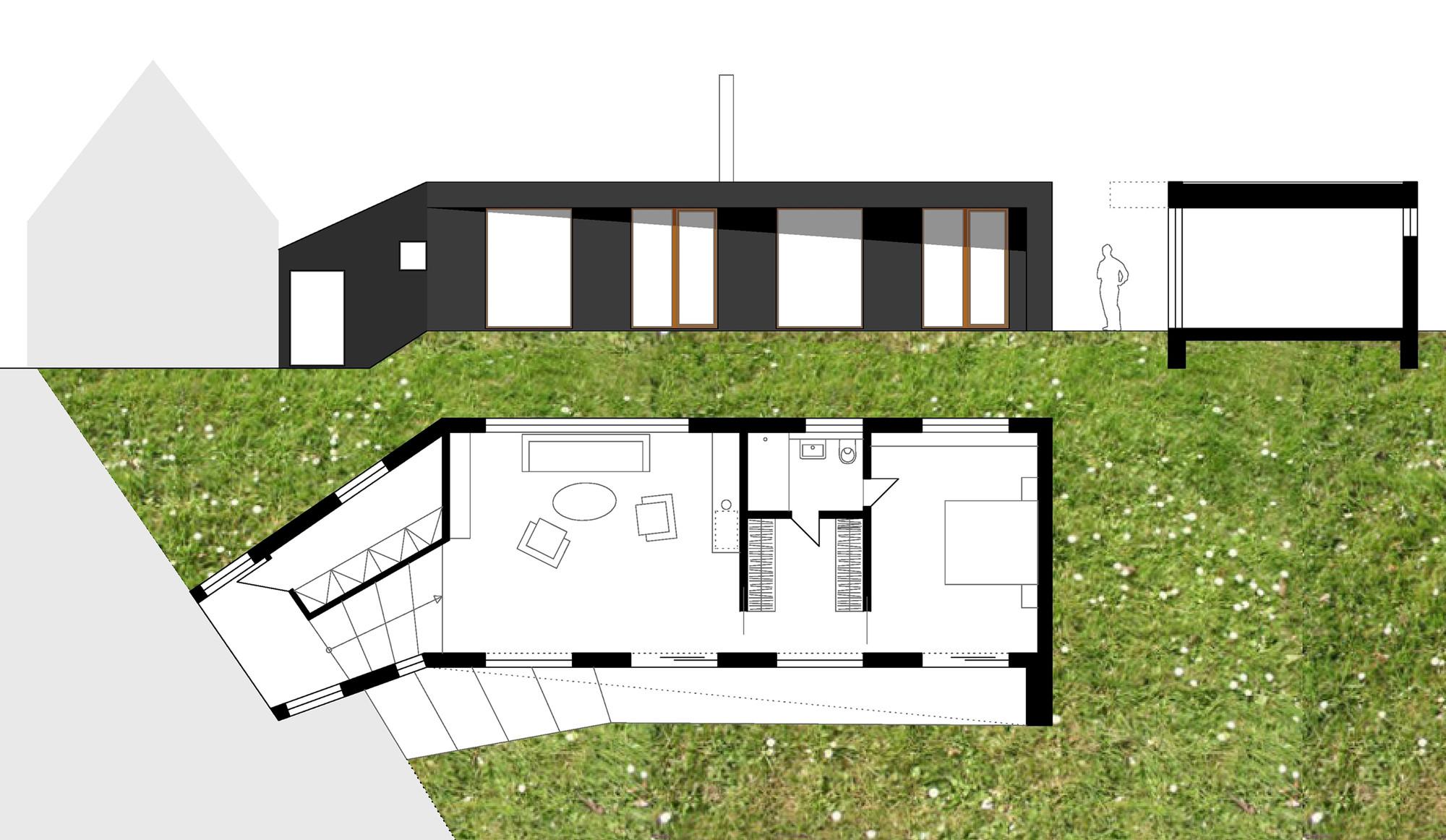 Floor Plan, Elevation, Section
