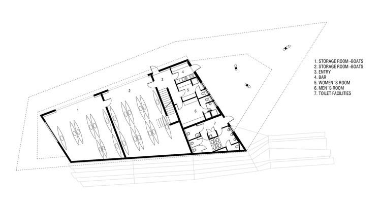 Kayak club gril kikelj arhitekti archdaily for Floor plan holder