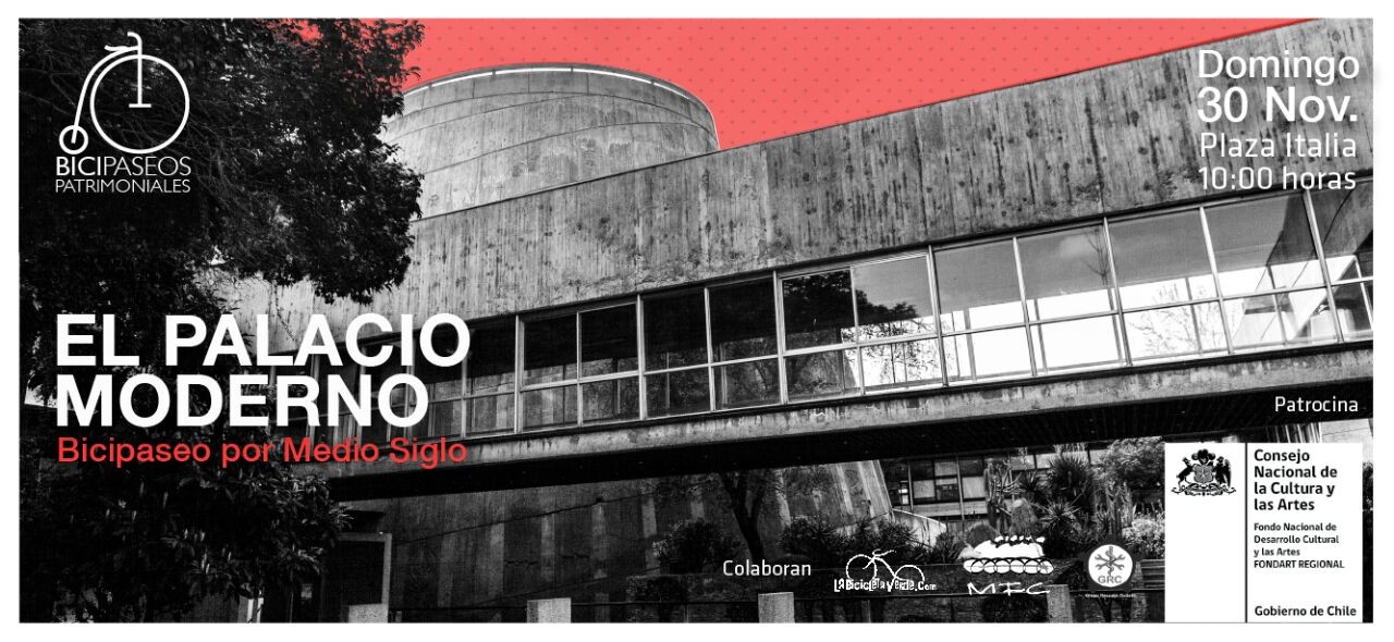 Bicipaseos Patrimoniales invita a recorrer 50 años de Arquitectura Moderna en Santiago