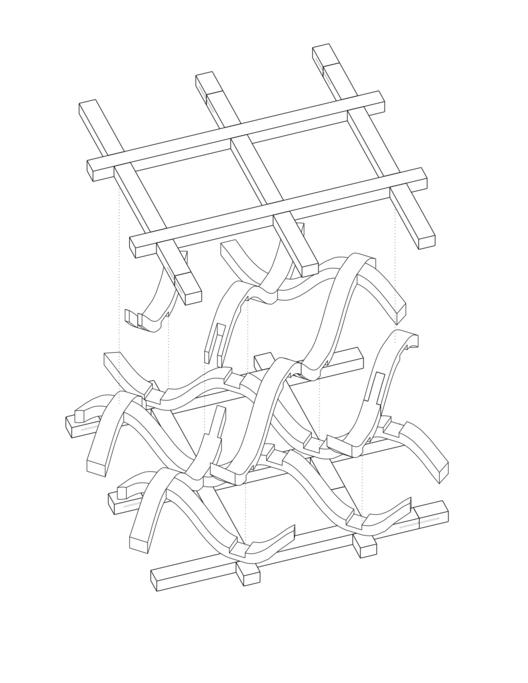 Aspen Art Museum Truss Diagram. Image