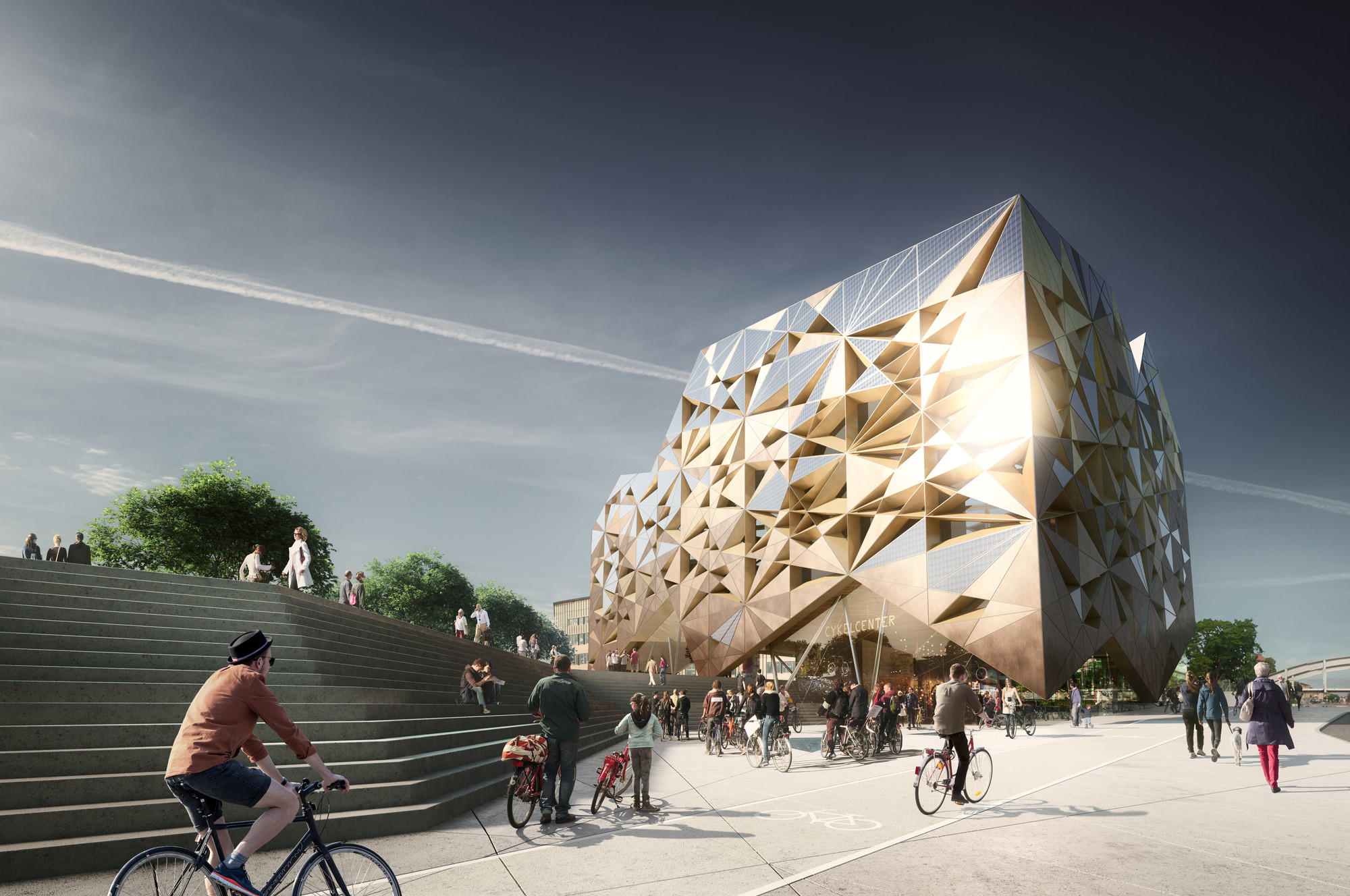 "Utopia Arkitekter's ""Jewel"" Selected in Uppsala Travel Centre Contest, Courtesy of Utopia Arkitekter"
