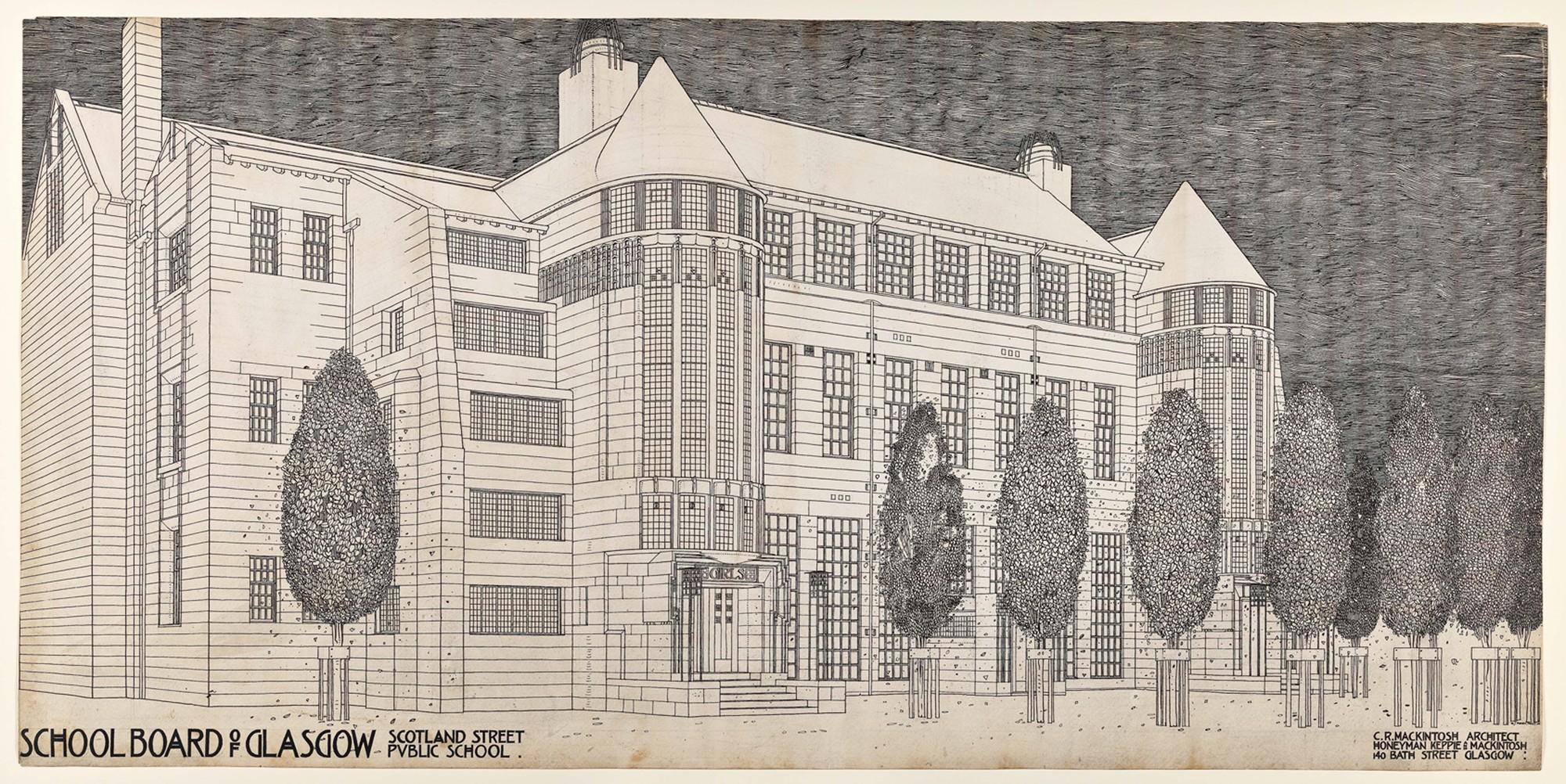 RIBA Announces Charles Rennie Mackintosh Retrospective for 2015, Design for Scotland Street School by Charles Rennie Mackintosh. Image © Hunterian, University of Glasgow