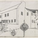 Windy Hill, perspective drawing in ink, 1900, by Charles Rennie Mackintosh. Image © Glasgow School of Art