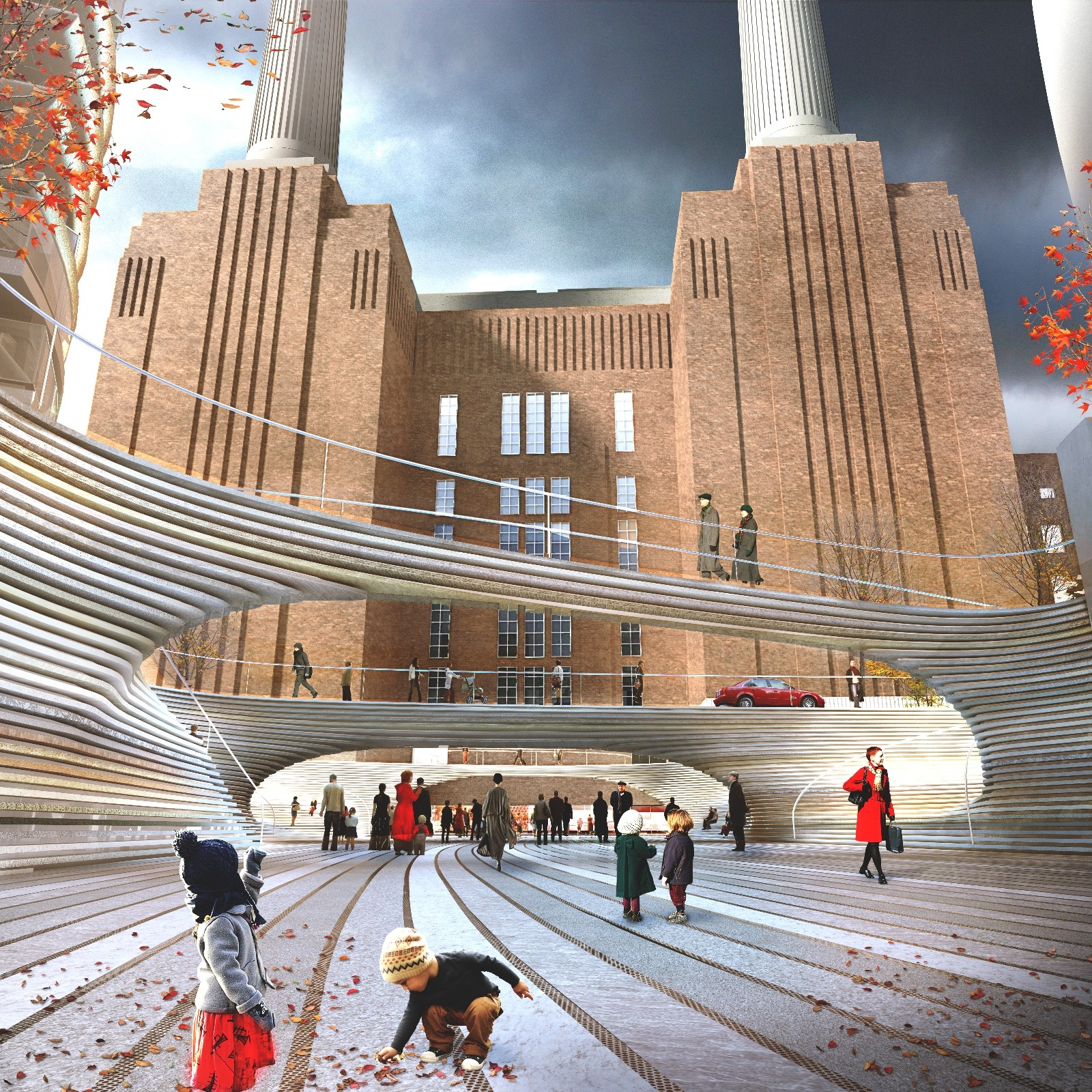 BIG Unveils Design For Battersea Power Station Square, Courtesy of Battersea Power Station Development Company