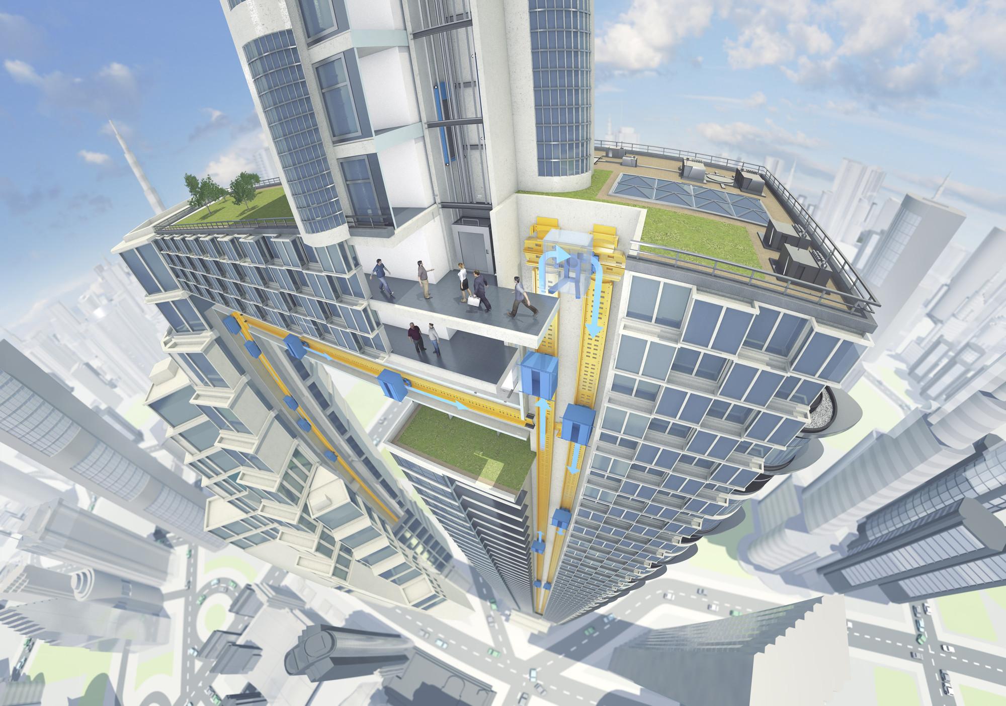 ThyssenKrupp promete revolucionar el diseño de rascacielos con una innovación en los ascensores, © ThyssenKruppe