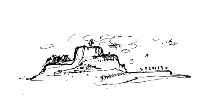 Aalto's topographical concept sketch