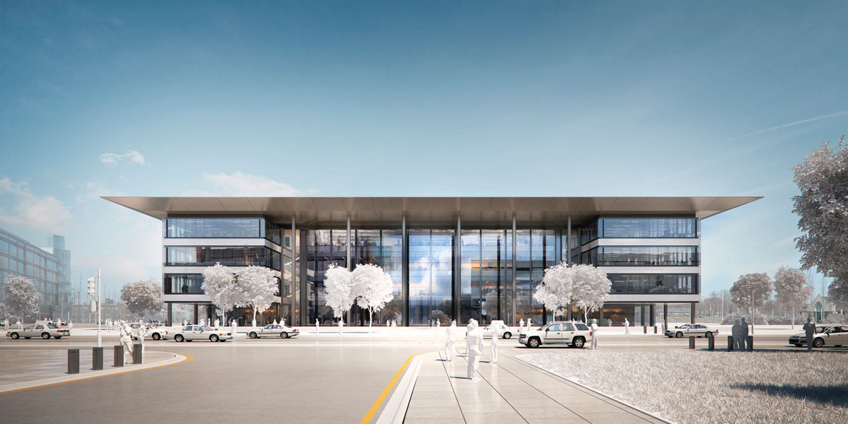 """Designs Unveiled for Foster + Partners' """"Health Education Campus"""" in Cleveland , © Foster + Partners, Courtesy of Case Western Reserve University"""