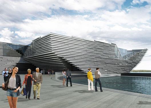 V&A Museum of Design planned for Dundee (click image for more). Image © Kengo Kuma & Associates