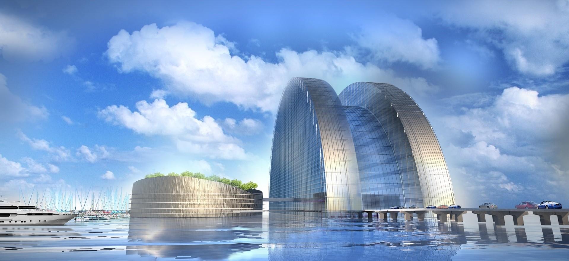 M Castedo Architects Unveils 30-Story Silver Pearl Hotel For Qatar 2022 World Cup, © M Castedo Architects
