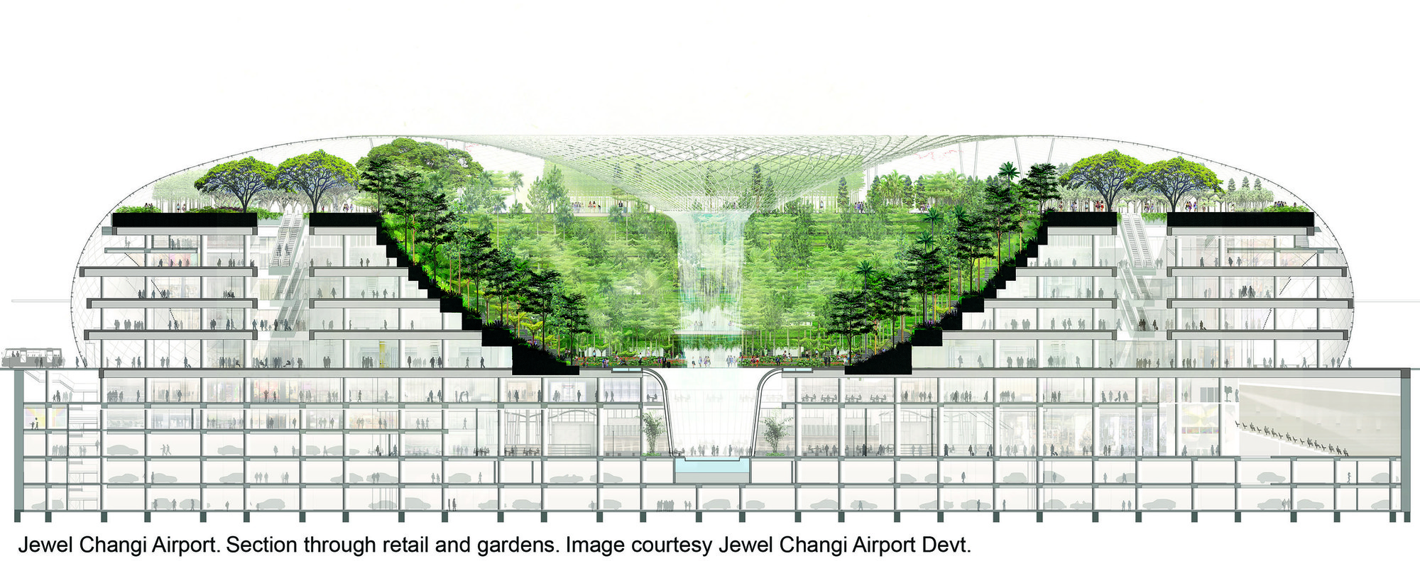 Corte. Imagen © Safdie Architects