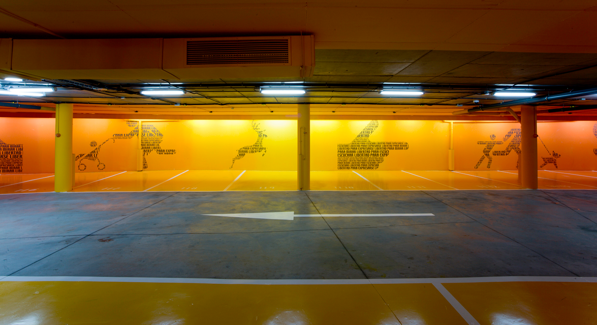 Hotel Silken Puerta de America Car Park / Madrid. Image Cortesia de Teresa Sapey