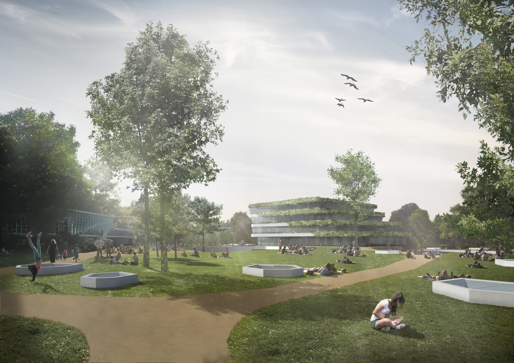 ABDM and RAU Win Competition to Design College Campus in Kortrijk , © ABDM and RAU
