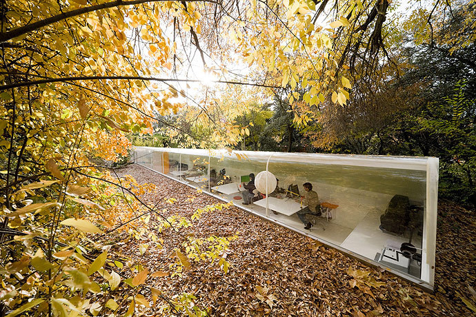 The Work of SelgasCano, the 2015 Serpentine Pavilion Designers, Office in the Woods. Image © Iwan Baan