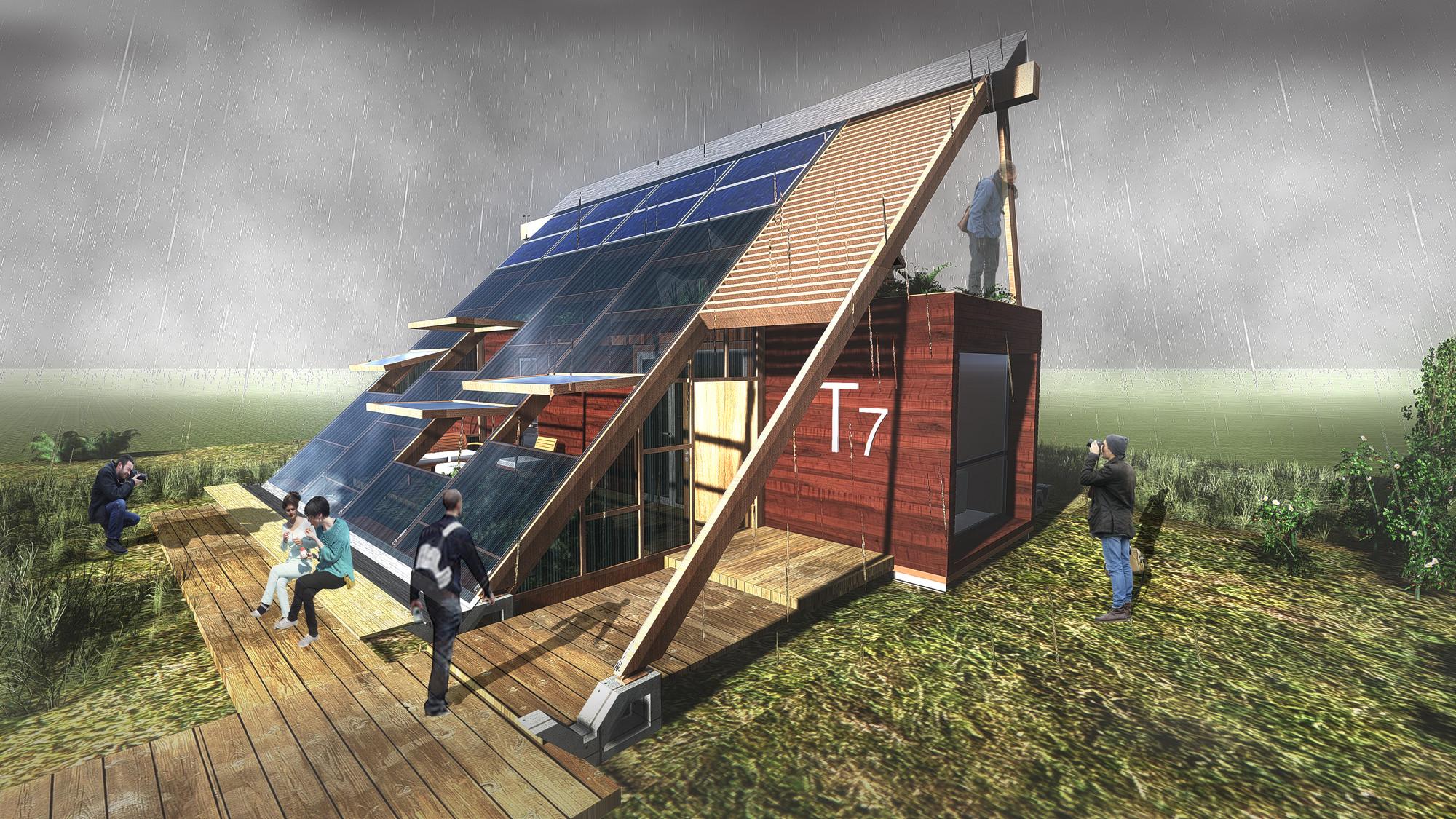 Construye Solar: Casa Atrapa Lluvia - Atrapa Sol, vivienda sustentable en una ciudad contaminada, Cortesia de Equipo T7