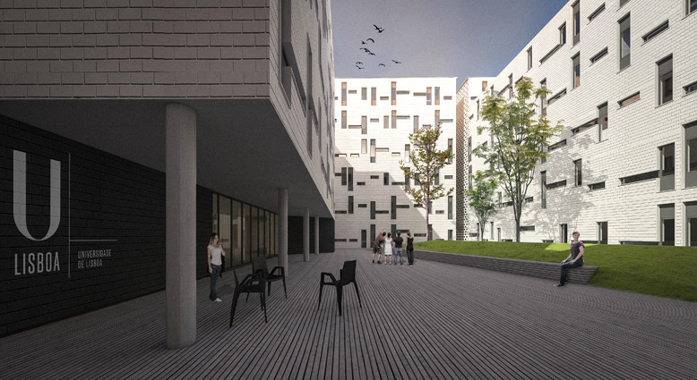 CVDB Arquitectos Wins Contest for Student Housing in Lisbon, © hugonascimento.com
