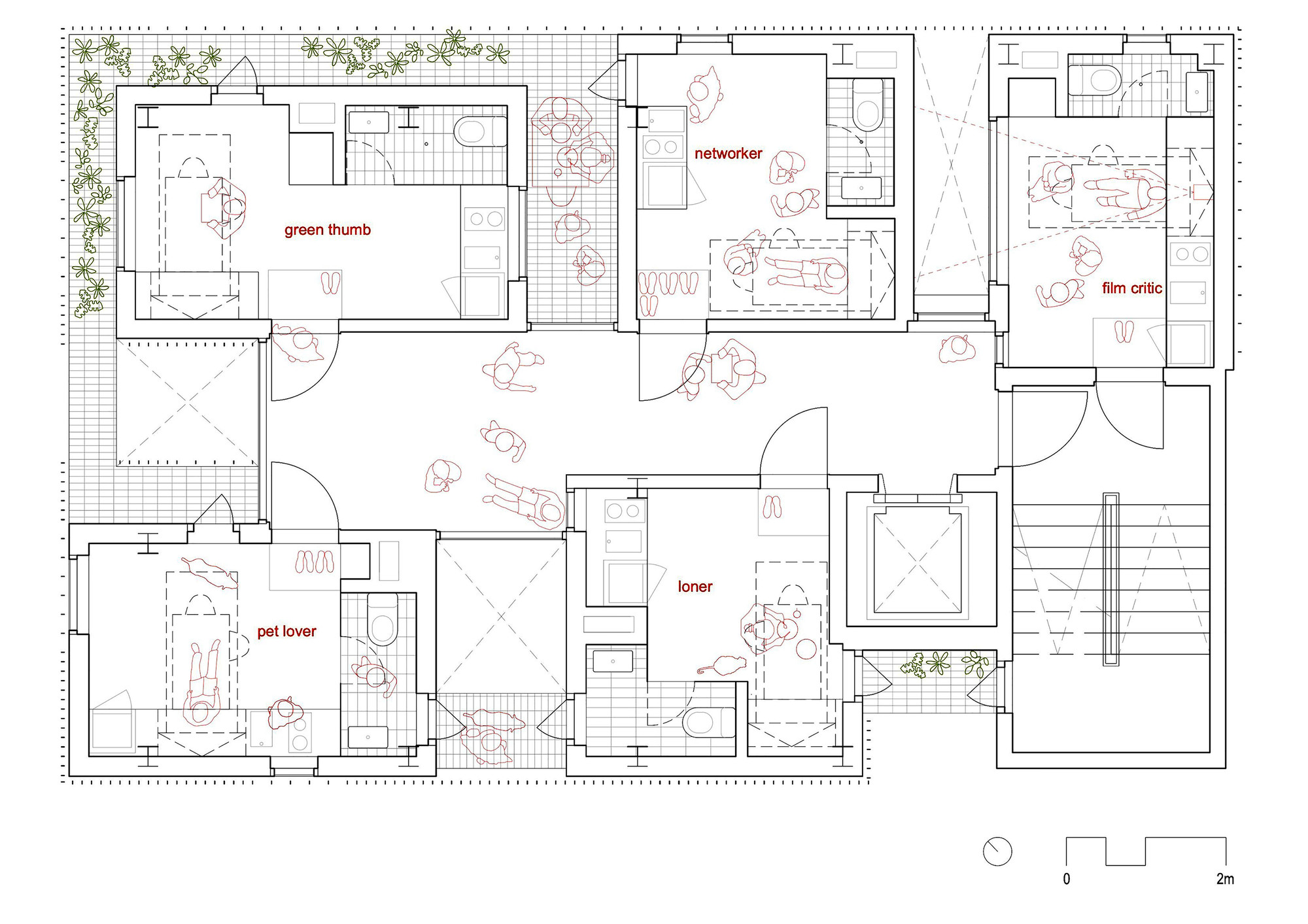 Micro Apartments Floor Plans Gallery Of Songpa Micro Housing Ssd 24