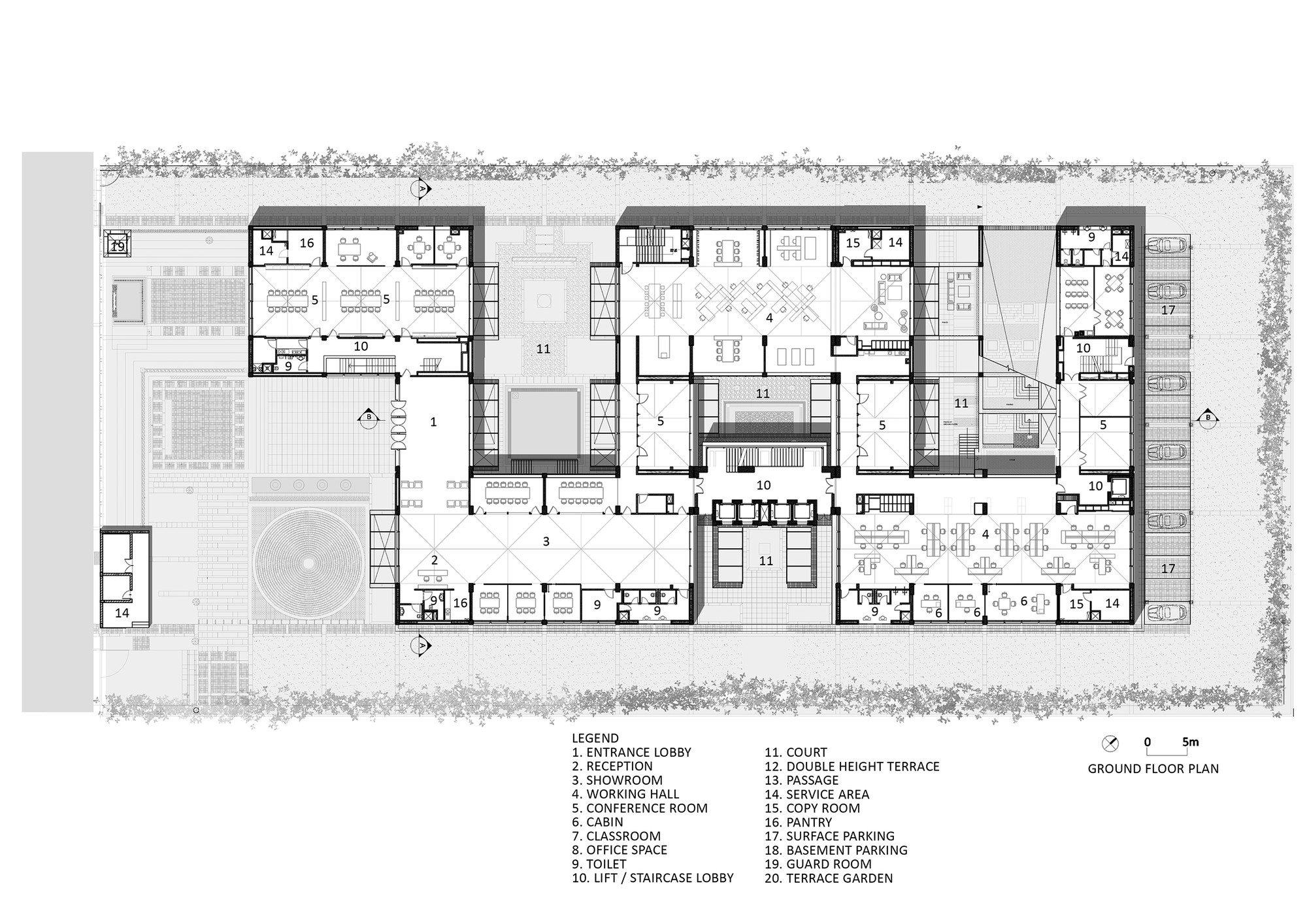 Gallery of triburg headquarters s p a design 19 for Salon layout plans