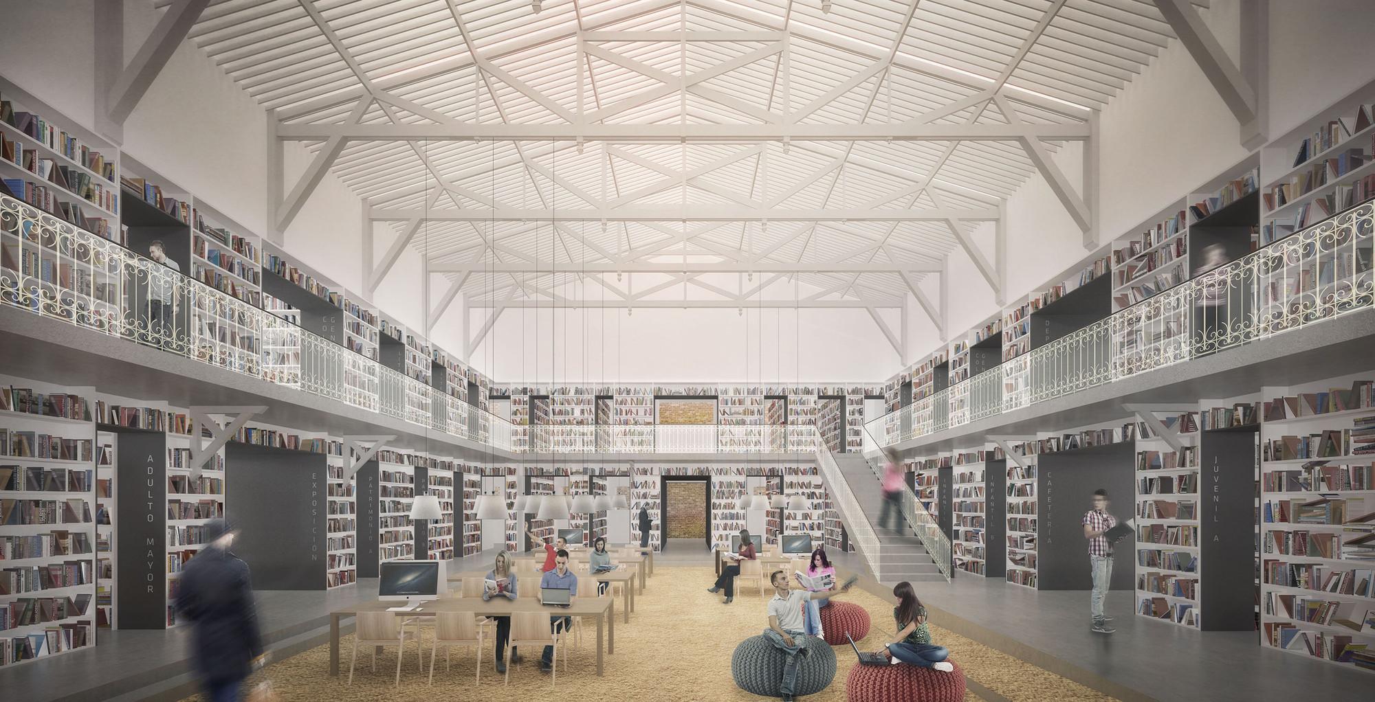 Segundo lugar en concurso de habilitaci n y construcci n for Biblioteca arquitectura